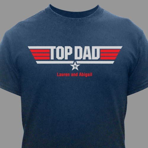 Personalized Top Dad T-Shirt | Fathers Day Shirts