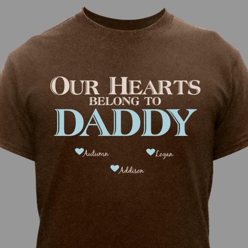 Personalized Our Hearts Belong To Him T-Shirt 34273X