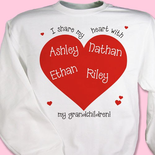 Personalized Valentine Heart Sweatshirt