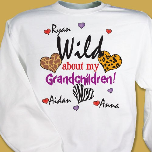 Personalized Valentines Day Sweatshirts for Grandma or Mom
