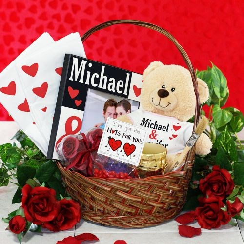 Personalized Valentine's Day Gift Basket of Love