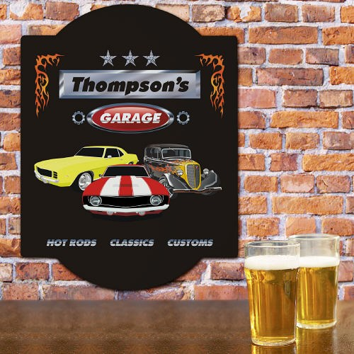 Personalized Garage Wall Sign for Dad