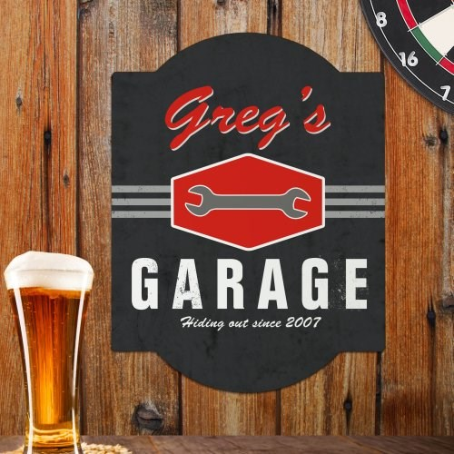Garage Personalized Wall Sign