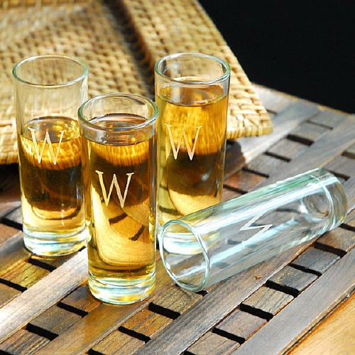 Engraved Island Shooter Glasses D1166