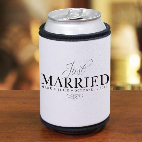 Personalized Just Married Can Wrap Koozie 377239