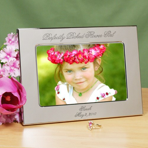 Personalized Flower Girl Silver Picture Frame 8533630