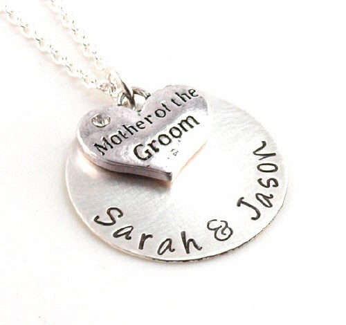 Personalized Mother of the Groom Necklace DB15681