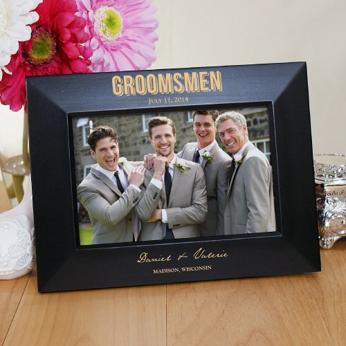Engraved Bridal Party Black Frame L772217X