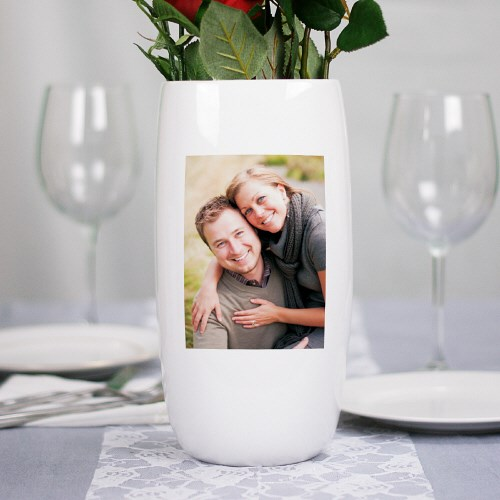 Personalized Ceramic Photo Centerpiece Vace U147318