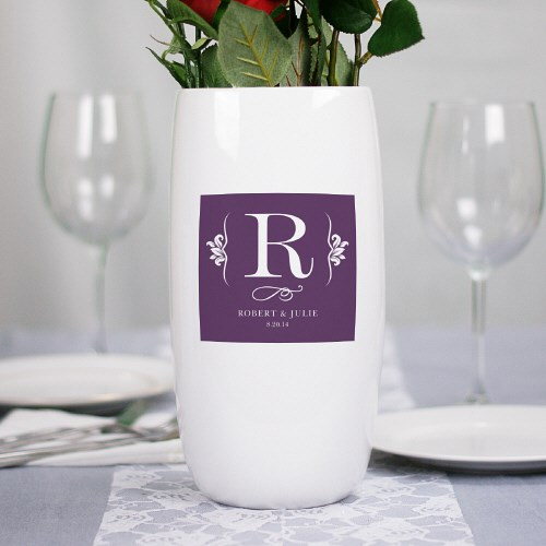 Personalized Ceramic Centerpiece Vase U774118