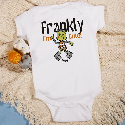 Personalized Frankenstein Halloween Infant Creeper