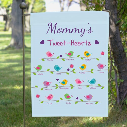 Personalized Tweet-Hearts Garden Flag 830101542X