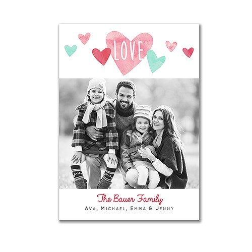 Hearts Photo Card | Personalized Valentine's Day Cards
