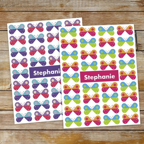 Personalized Butterflies Folder Set 11047820