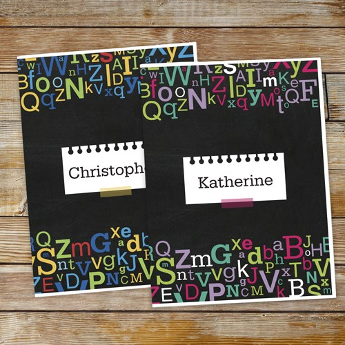 Personalized Letters Folder Set 11047920