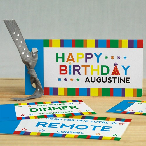 Personalized Happy Birthday Coupon Book 11052517