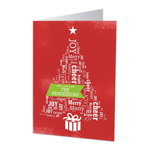 Christmas Tree Word Art Holiday Cards 1971310X