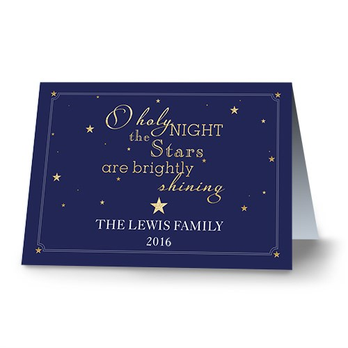O Holy Night Personalized Christmas Card 1980710