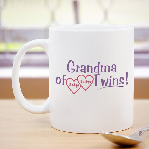 Grandmother of Twins Personalized Mug