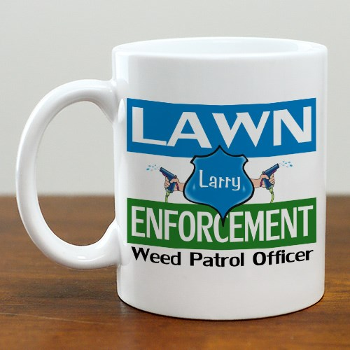 Lawn Enforcement Ceramic Coffee Mug