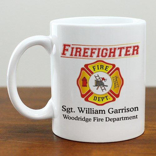 Personalized Firefighter Coffee Mug