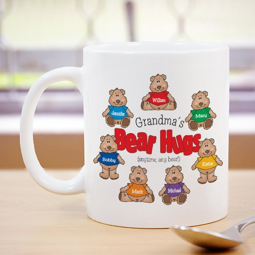 Bear Hugs Personalized Ceramic Coffee Mug
