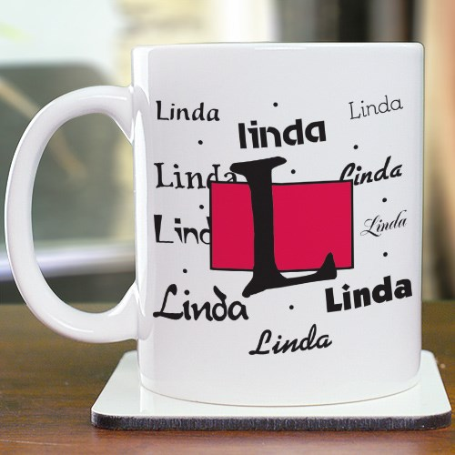 Personalized Name & Initial Ceramic Mug 248830