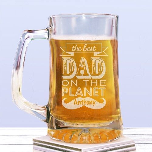 Engraved Best Dad Glass Mug 275331
