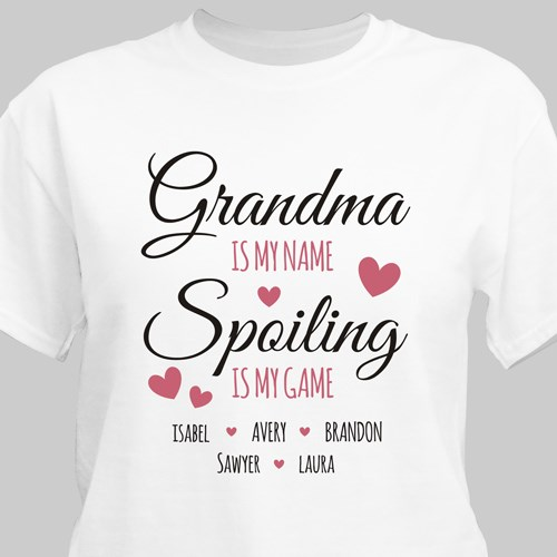Spoiling is My Game T-Shirt | Grandma TShirts