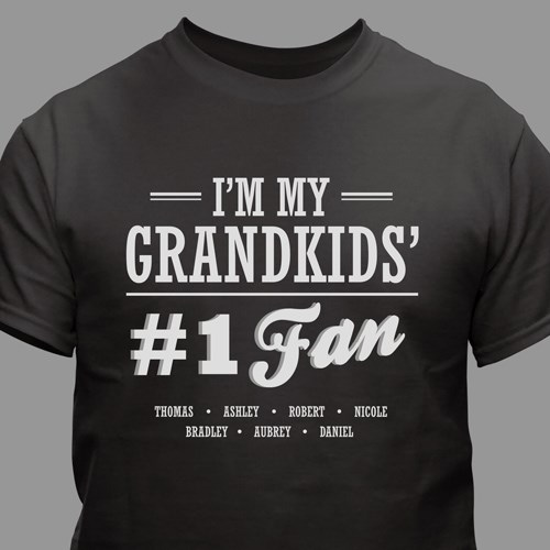 Personalized #1 Fan T-shirt for Him 310556X
