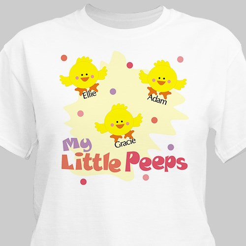 Little Peeps Personalized Easter T-Shirt | Mom Shirts