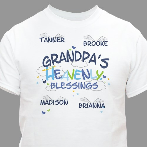 Heavenly Blessings Grandpa T-shirt