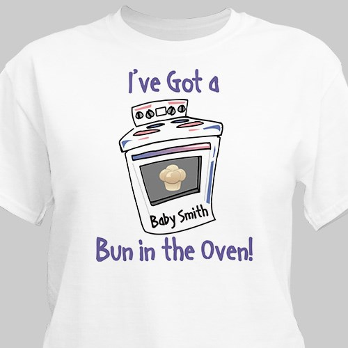 Bun In The Oven Maternity Personalized T-Shirt