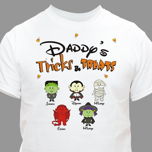 Tricks and Treats Character Personalized T-shirt