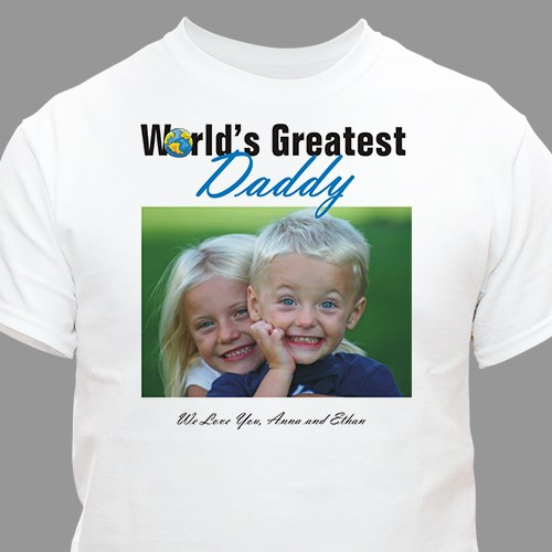 Personalized World's Greatest Father's Day Photo T-shirt