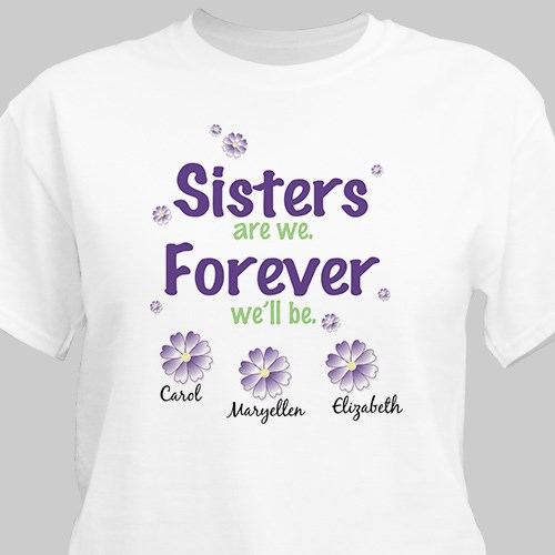 Sisters Forever Personalized T-shirt