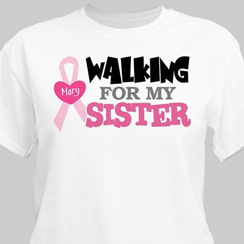 Walking - Breast Cancer Awareness  T-shirt