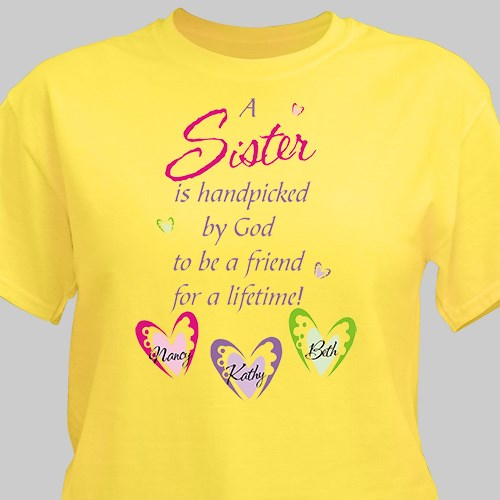 Personalized Sister T-Shirt 32513X