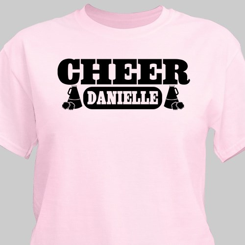 Cheerleader Personalized Sports T-shirt