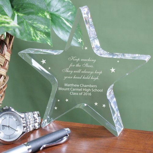 Engraved Graduation Star Keepsake
