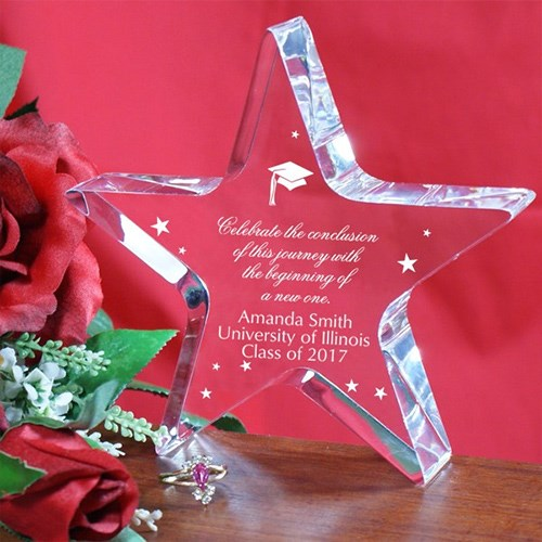Engraved Graduation Star Gift