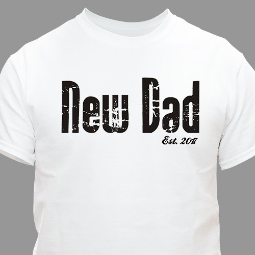 Personalized New Grandpa Tee Shirt