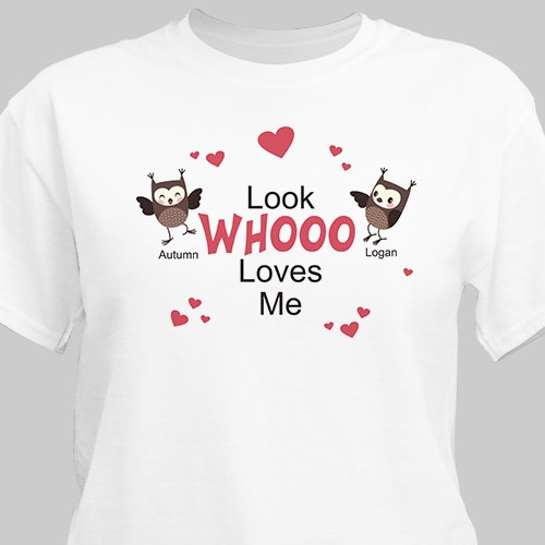 Look Whooo Loves Me Valentine T-shirt 33206x