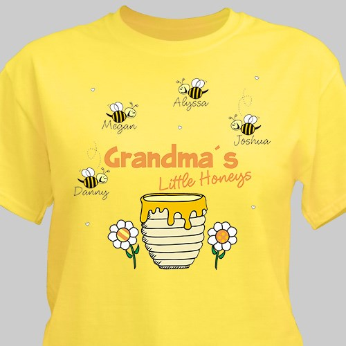 Personalized Little Honeys Yellow T-Shirt