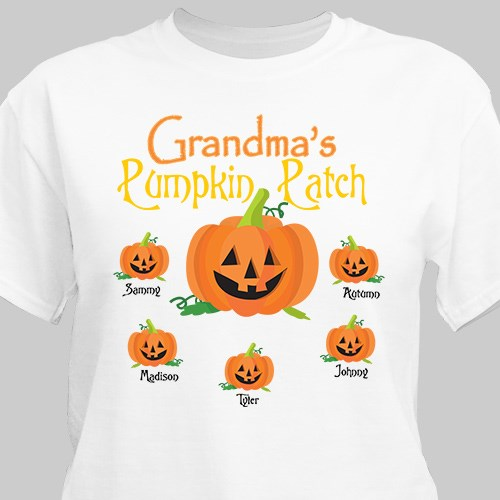 Pumpkin Patch Personalized Halloween Adult T-Shirt 33657X