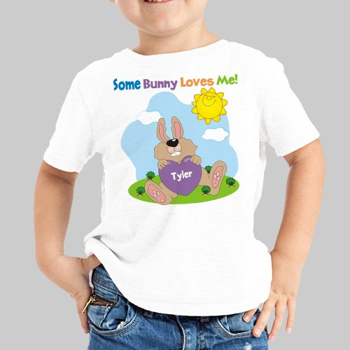 Some Bunny Loves Him Personalized Easter Youth T-Shirt