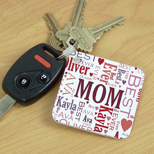 Personalized In Our Hearts Memorial Key Chain | Personalized Gifts for Moms