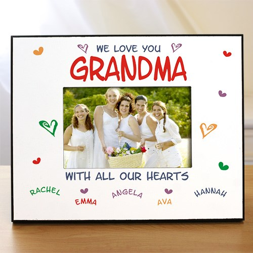 All Our Hearts Personalized Printed Frame