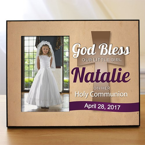Personalized God Bless Holy Communion Printed Frame 465376