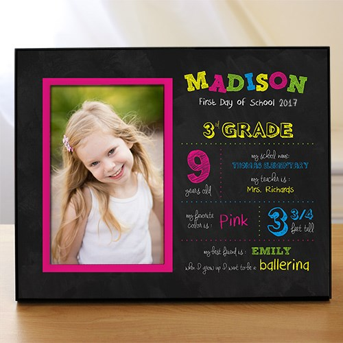 Personalized Her First Day of School Printed Frame 478056G
